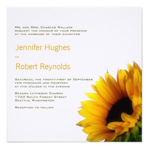 Sonnenblume-Hochzeits-Einladung