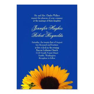 Sonnenblume-Hochzeits-Einladung 12,7 X 17,8 Cm Einladungskarte