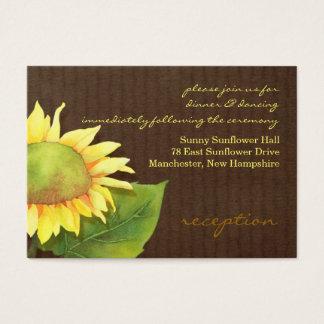 Sonnenblume-Hochzeits-Empfangs-Einsatz Visitenkarte