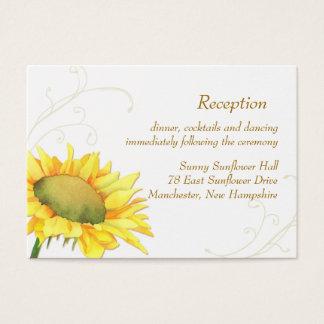 Sonnenblume-Hochzeits-Empfangs-Einschließung Visitenkarte