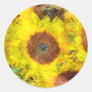 Sonnenblume-Hochzeits-Umschlag Aufkleber