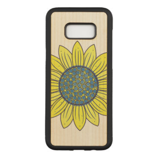 Sonnenblume-Illustration Carved Samsung Galaxy S8+ Hülle