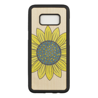 Sonnenblume-Illustration Carved Samsung Galaxy S8 Hülle