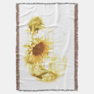 Sonnenblume im hellen BaumwollWurf Decke