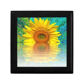 Sonnenblume im Wasser Geschenkbox