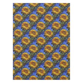 Sonnenblume in Van- Goghart Tischdecke