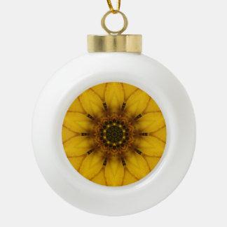 Sonnenblume-Kaleidoskop Keramik Kugel-Ornament