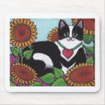 Sonnenblume-Katze Mauspads