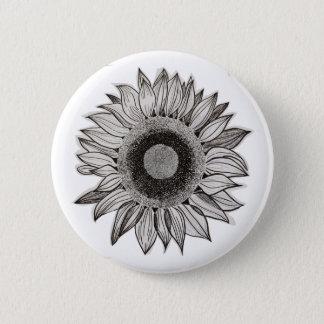 Sonnenblume-Knopf Runder Button 5,1 Cm