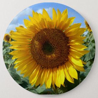 Sonnenblume-kolossales rundes Abzeichen Runder Button 15,3 Cm