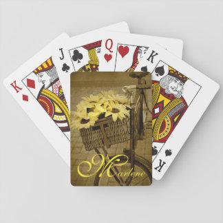 Sonnenblume-Korb Spielkarten