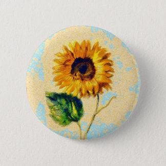 Sonnenblume-Kunst Runder Button 5,1 Cm