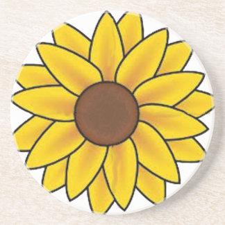 Sonnenblume-Land Getränkeuntersetzer