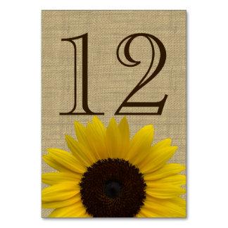 Sonnenblume-Land-Leinwand-Tischnummer-Karte