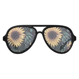 Sonnenblume-Leben Partybrille