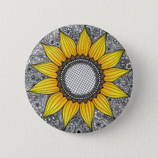 Sonnenblume-Leben Runder Button 5,7 Cm
