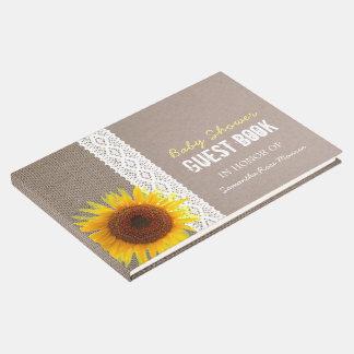Sonnenblume-Leinwand-u. Gästebuch