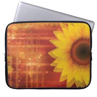 Sonnenblume, Liebe und Glück Laptopschutzhülle