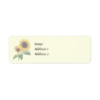 Sonnenblume-Liebe-Wedding Produkte Rücksendeetiketten