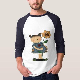 Sonnenblume-Mädchen-5. Geburtstags-Geschenke T-Shirt