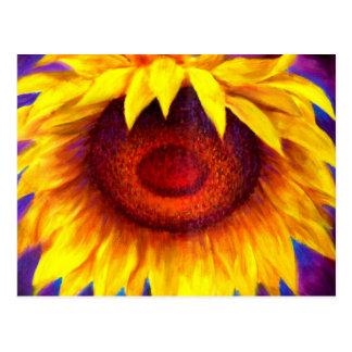 Sonnenblume-Malerei-Kunst - multi Postkarte