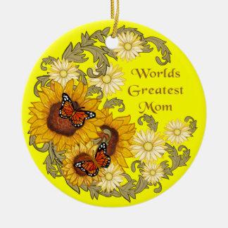 Sonnenblume-Mamma-Grenze Keramik Ornament