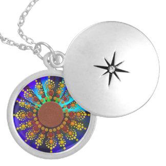 Sonnenblume-Mandala-Halskette Medaillon