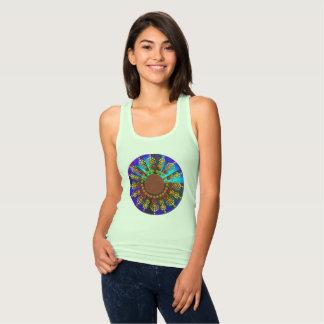 Sonnenblume-Mandala-Trägershirt Tank Top