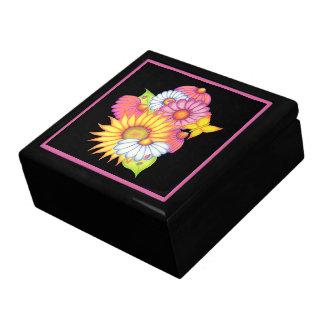 Sonnenblume-Marienkäfer-Schmuckkästchen-Geschenk Erinnerungskiste