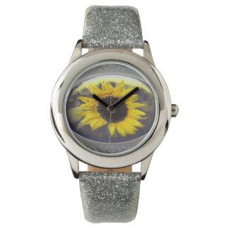 Sonnenblume medaillion handuhr