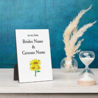 Sonnenblume-moderne einfache elegante fotoplatte