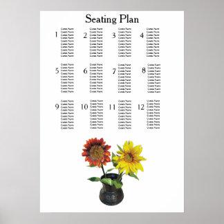 Sonnenblume-moderne einfache elegante poster