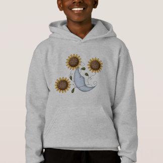 Sonnenblume-Mond Hoodie