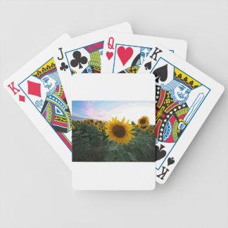 Sonnenblume-Nahaufnahme Bicycle Spielkarten