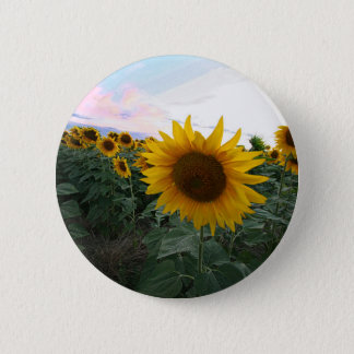 Sonnenblume-Nahaufnahme Runder Button 5,1 Cm