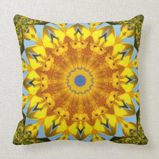 Sonnenblume-Natur, Blume-Mandala (Blumen-Mandala) Kissen
