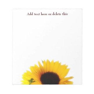 Sonnenblume-Notizblock Notizblock
