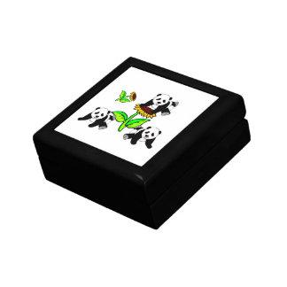Sonnenblume-Pandas Geschenkbox