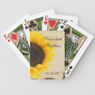 Sonnenblume-personalisierte Bicycle Spielkarten