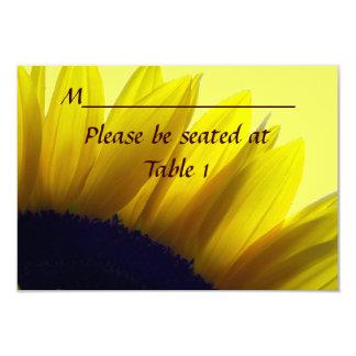 Sonnenblume-personalisierter 8,9 X 12,7 Cm Einladungskarte