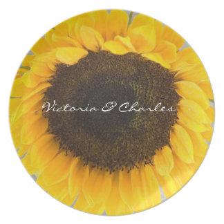 Sonnenblume-Picknick-Hochzeits-Platte Teller
