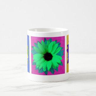 Sonnenblume-Pop-Kunst-Triptychon - Tasse