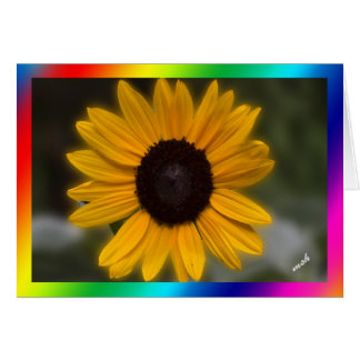 Sonnenblume-Power der Power der Blumen Grußkarte
