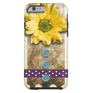 Sonnenblume-Power-Handwerk iPhone 6/6s Fall Tough iPhone 6 Hülle