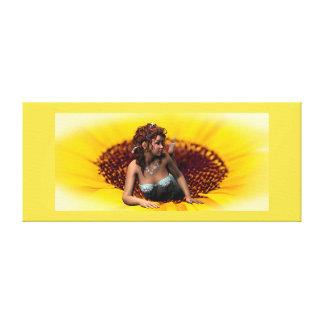 Sonnenblume-Prinzessin Leinwanddruck