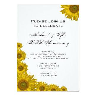 Sonnenblume-Rand-Hochzeits-Jahrestags-Party laden Karte