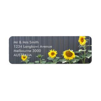 Sonnenblume Rücksendeetiketten