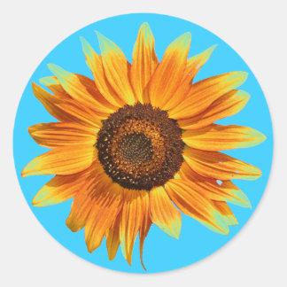 Sonnenblume Runder Aufkleber