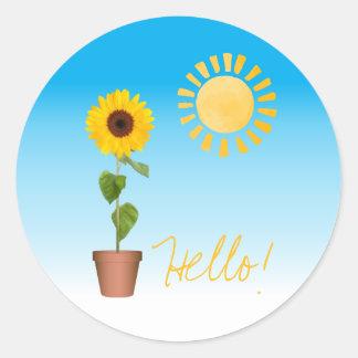Sonnenblume-runder Aufkleber