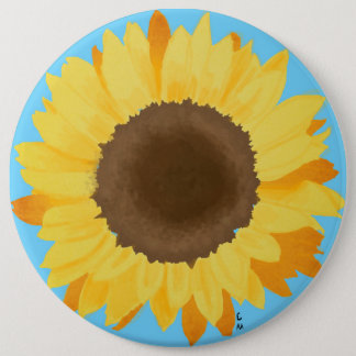 Sonnenblume Runder Button 15,3 Cm